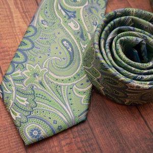 Countess Mara Accessories - Countess Mara Paisley Tie (green/blue)